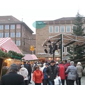 Inliner Sanierung eines Regenrohrs am Hauptmarkt Nürnberg