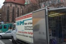 Fahrzeug von HM-Kanalsanierung aus Rohr bei Nürnberg